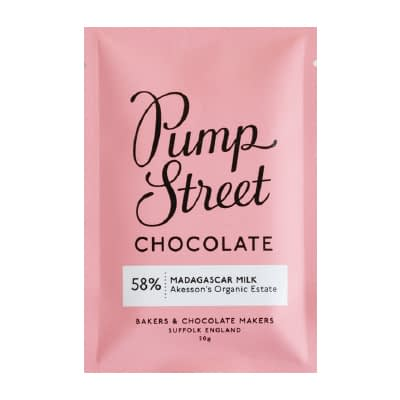 Pump Street Chocolate - Madagascar Milk Chocolate Taster Bar (Carton of 20)