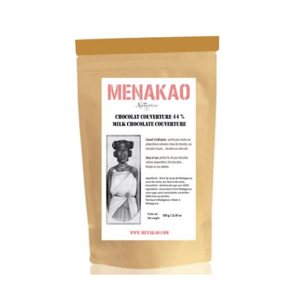 Menakao Milk Chocolate 44% Couverture 2.5kg