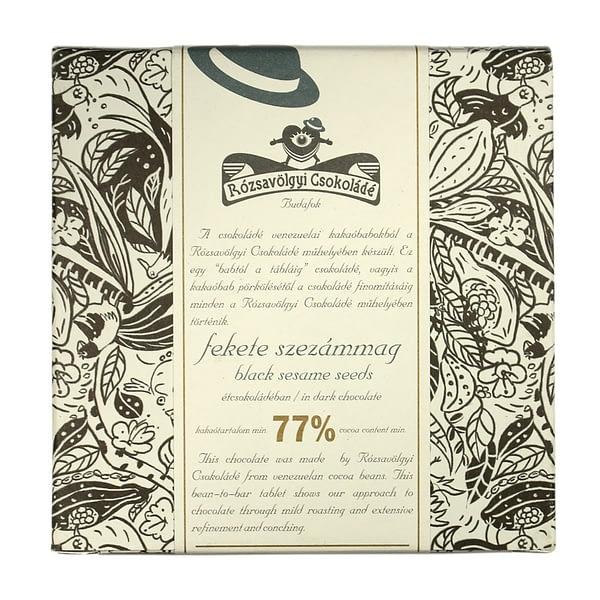 Rózsavölgyi Csokoládé Dark Chocolate 73% With Black Sesame Seeds