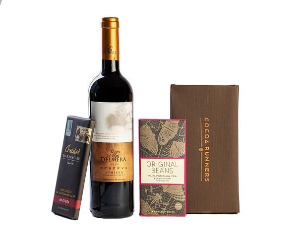 Wine & Chocolate Gift: Jumilla Red & Dark Chocolate