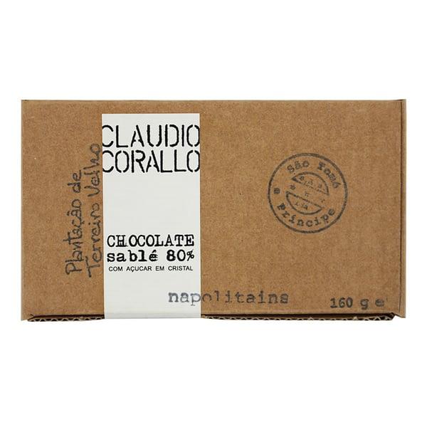 Claudio Corallo 80% Chocolate with Sugar Crystals