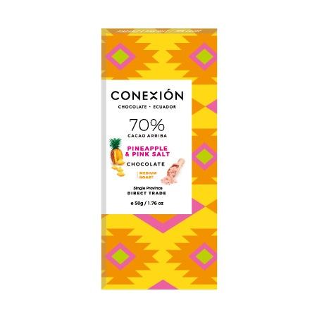 Conexion - Pineapple & Pink Salt 70% Dark Chocolate