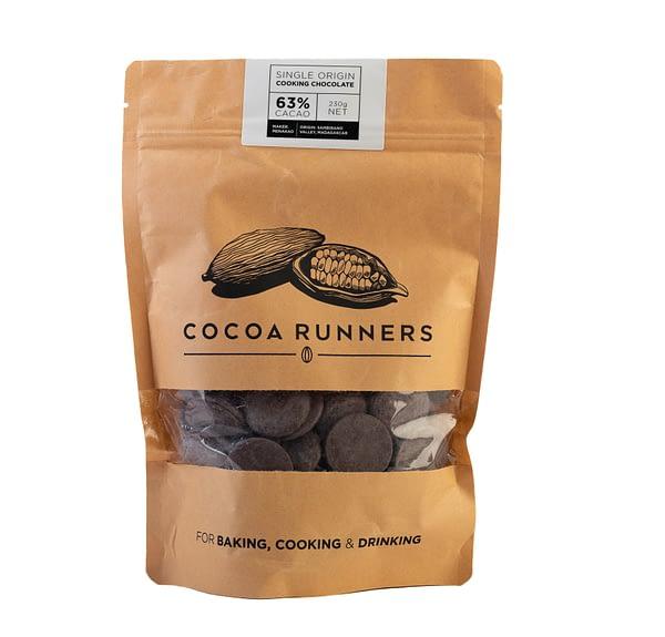 Cocoa Runners Cooking & Baking 63% Dark Chocolate 230g