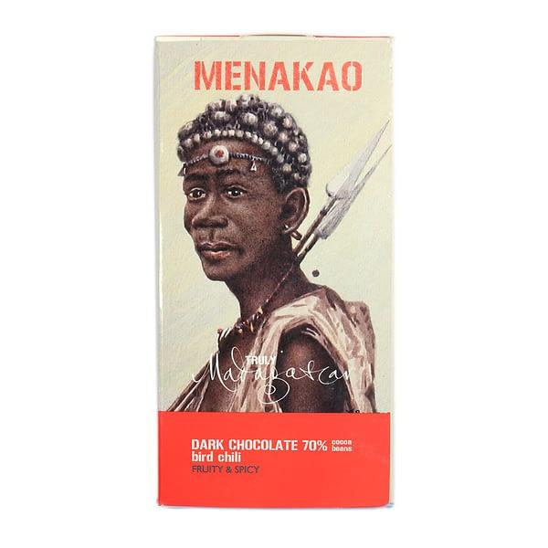 Menakao 70% Dark Chocolate with Bird Chilli (Taster bar)