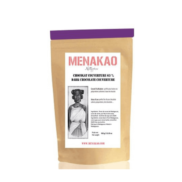 Menakao 63% Dark Chocolate Couverture 2.5kg