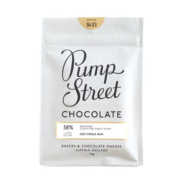 Pump Street Chocolate - Hot Cross Bun, 58% Grenada Dark Chocolate