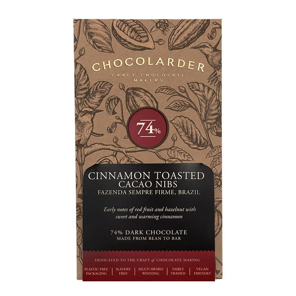 Chocolarder - 74% Cinnamon Toasted Cacao Nibs