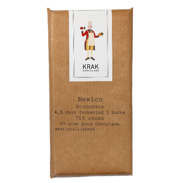 Krak Chocolade - Socunosco, Mexico 4.5 & 5.5 Day Fermentation Bar Duo