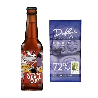 Duffy's 72% Chocolate and beer from honest brew
