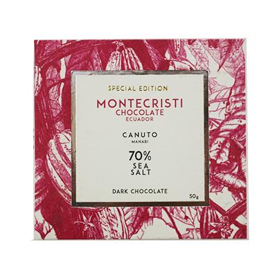 Montecristi - Canuto 70% Dark Chocolate with Sea Salt