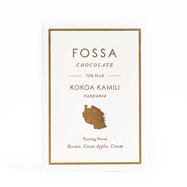 Fossa - Kokoa Kamili, Tanzania 72% Dark Chocolate