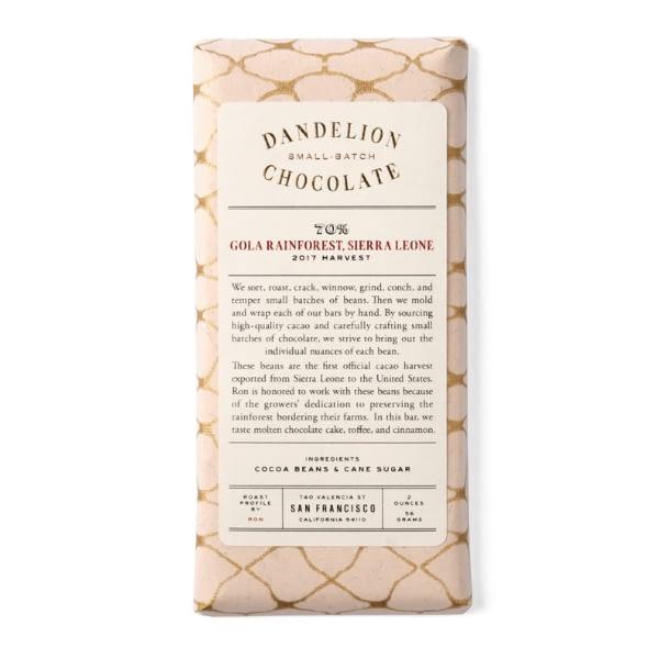 Dandelion - Gola Rainforest, Sierra Leone 70%