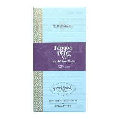 French Broad Chocolates - Limited Release Pangoa, Peru 83% Dark Chocolate