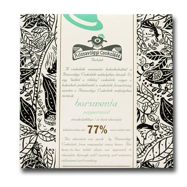 Rózsavölgyi Csokoládé Dark Chocolate 73% With Peppermint