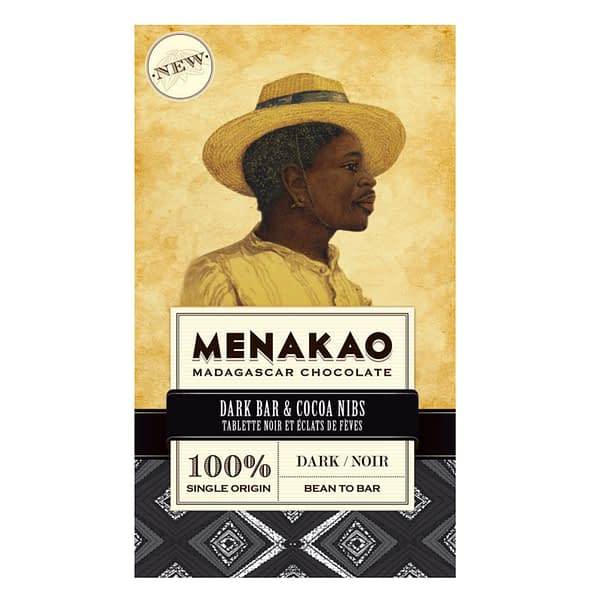 Menakao Dark Chocolate 100% with Cocoa Nibs