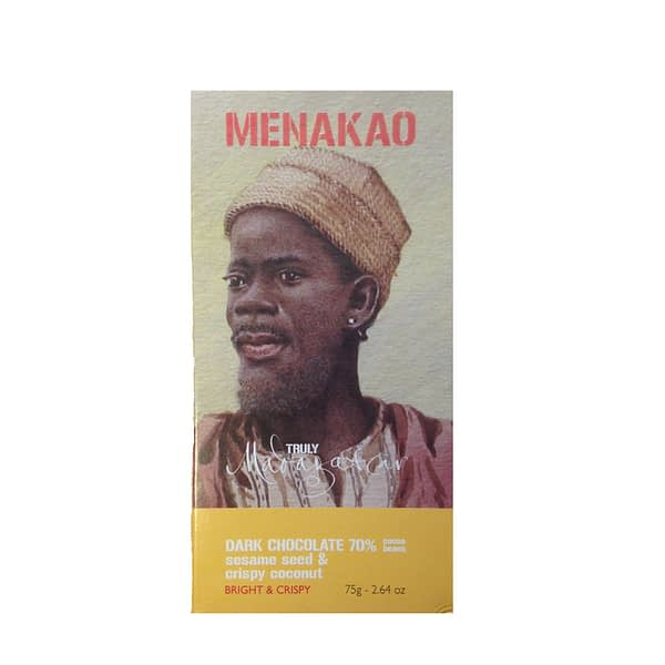Menakao Dark Chocolate With Sesame Seed and Coconut