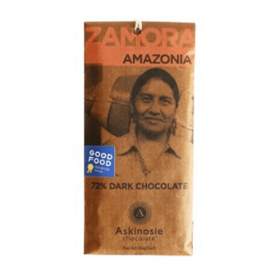 Askinosie - 72% Zamora, Amazonia, Brazil Dark Chocolate Bar
