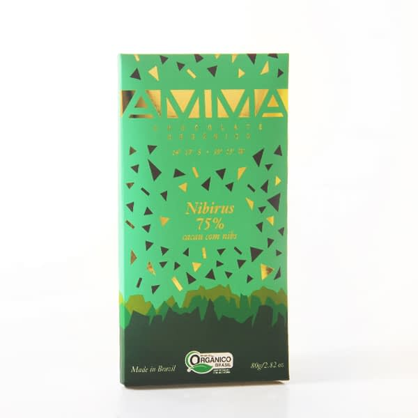 Amma - 75% Dark Chocolate with Cocoa Nibs