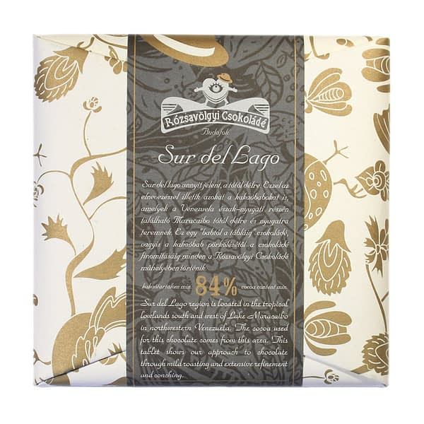 Rózsavölgyi Csokoládé Sur Del Lago 84%