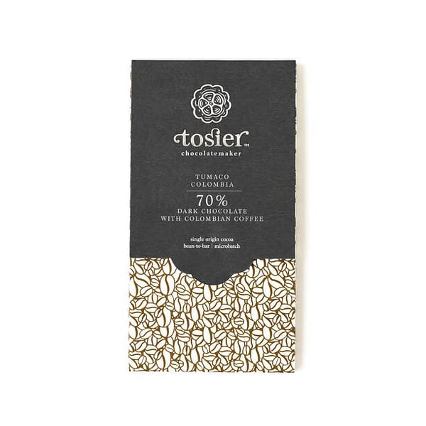Tosier Chocolate - Tumaco Estate, Colombia 70% with Coffee