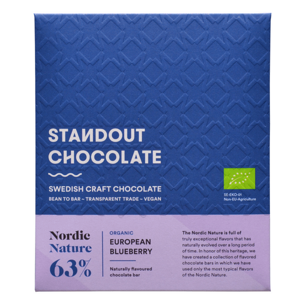 """Standout Chocolate - """"Nordic Nature"""" Blueberry 63%"""
