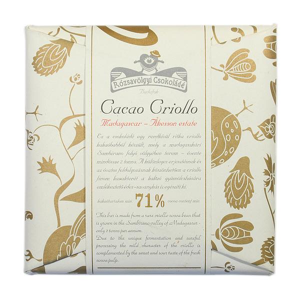 Rózsavölgyi Csokoládé Cacao Criollo