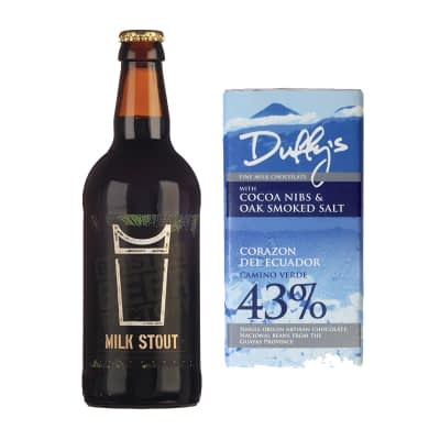 Duffy's 43% Nibs and Salt Chocolate and beer from honest brew