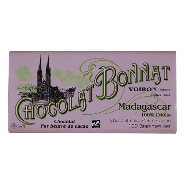 Bonnat - Madagascar 100% Criollo, 75% cacao