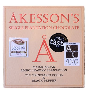 Akessons 75% Trinatario and Black pepper