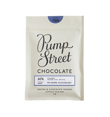 Pump Street Chocolate Rye Crumb & milk