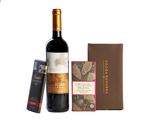 Wine & Chocolate Gift: Casa Felipe Carmenere & Dark Chocolate