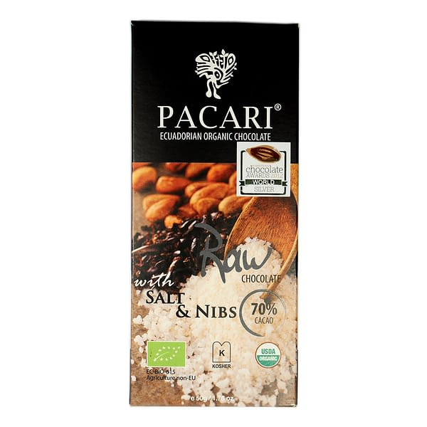 Pacari Raw (unroasted) With Salt & Nibs