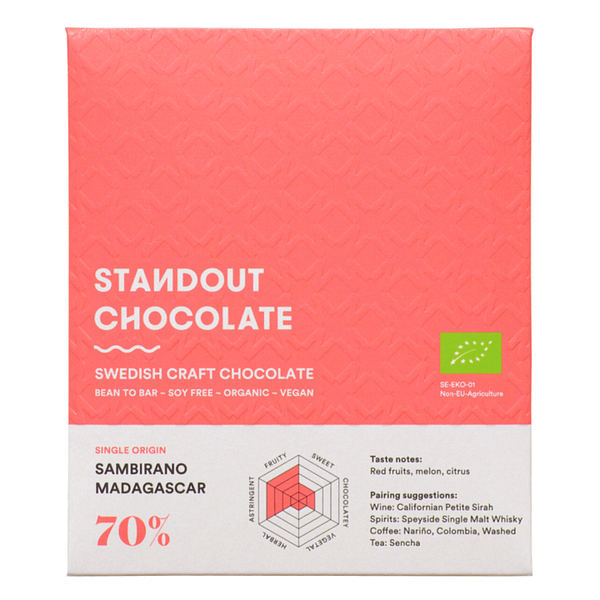 Standout Chocolate - Sambirano Valley, Madagascar 70%