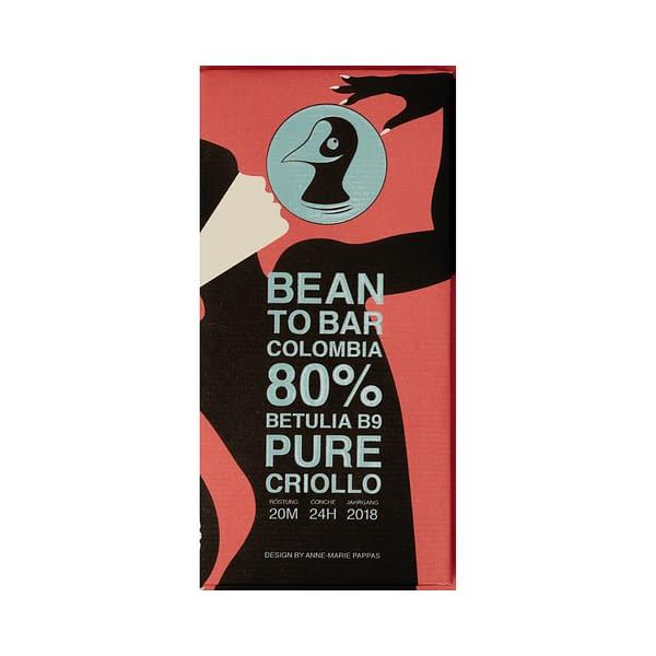 Taucherli - Betulia B9, Colombia, 80% Dark Chocolate