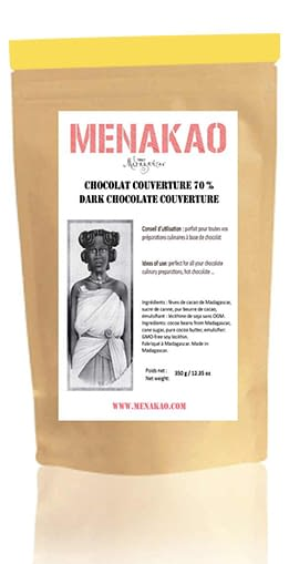 Menakao 70% Dark Chocolate Couverture 2.5kg