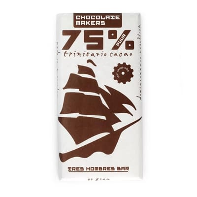 Chocolate Makers Tres Hombres 75% With Nibs