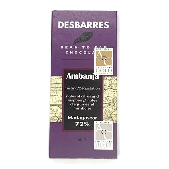 DesBarres - Ambanja, Madagascar 72% Dark Bar
