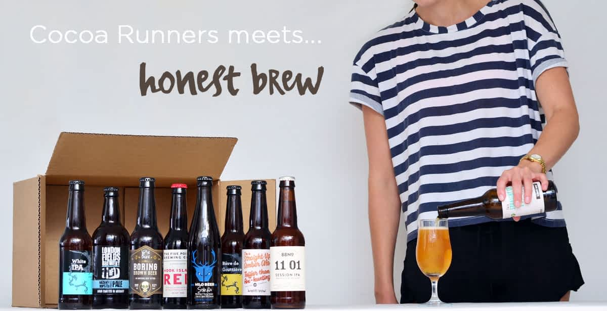honest brew collaboration with Cocoa Runners blog