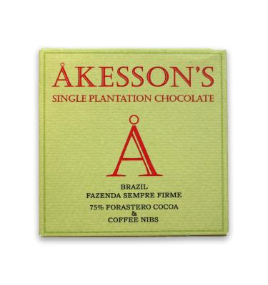 Akessons Brazil Dark Chocolate With Coffee NIbs