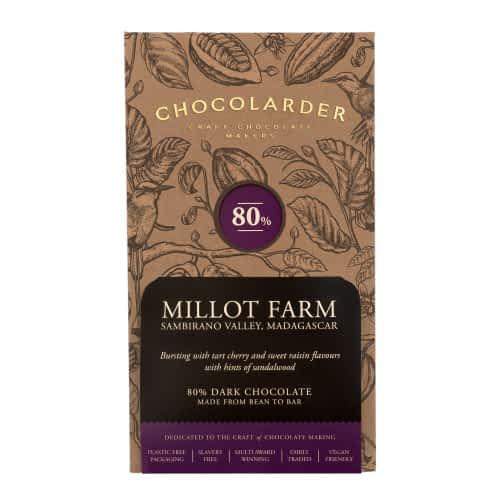 Chocolarder - Millot Farm, Madagascar 80% Dark Chocolate