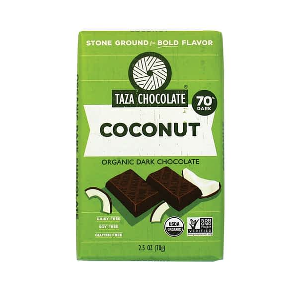 Taza Chocolate - Mexicano Coconut Besos 70% (Carton of 10)