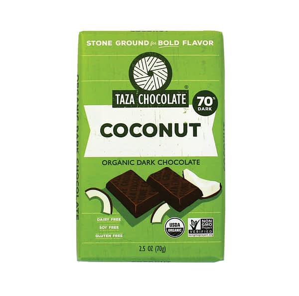 Taza Chocolate - Mexicano Coconut Besos 70% (Carton of 10)