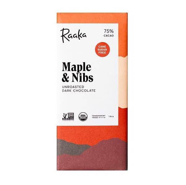 Raaka - Uganda 75% with Maple Sugar and Cocoa Nibs
