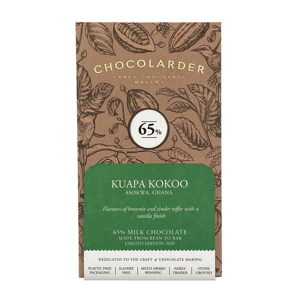 Chocolarder - Kuapa Kokoo, Ghana 65% Dark Milk