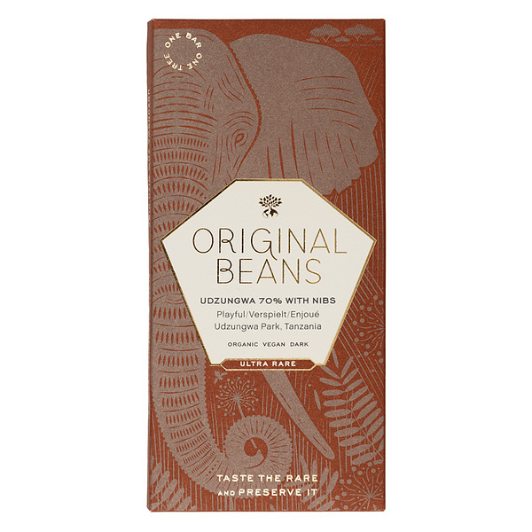 Original Beans - Cru Udzungwa, Tanzania with Nibs (Carton of 13)