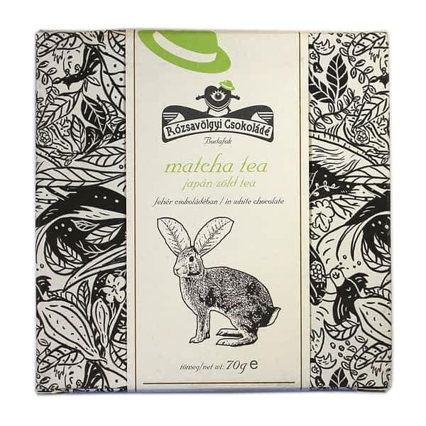 Rózsavölgyi Csokoládé - White Chocolate with Matcha Tea (Carton of 10)