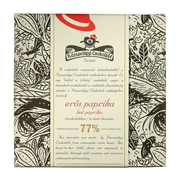 Rózsavölgyi Csokoládé - Dark Chocolate 73% with Hot Paprika (Carton of 10)