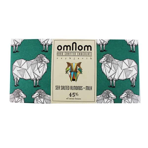 Omnom - Sea Salted Almonds and Milk (Carton of 10)
