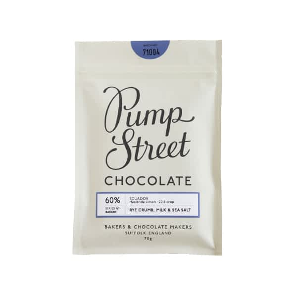 Pump Street Chocolate - Rye Crumb, Milk & Sea Salt 60%