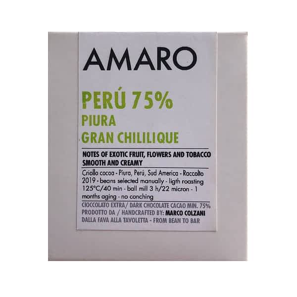 Amaro - Gran Chililique, Peru 75% Dark